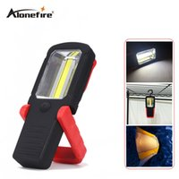 Wholesale Hook Magnet Led Flashlight - AloneFire C025 Multifunction COB LED Flashlight Work Flash light for camping repairing With Magnet Hook USE 3*AAA Battery