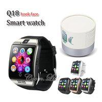 Wholesale Wholesale Bluetooth Watch For Android - Q18 smart watches for android phones Bluetooth Smartwatch with Camera Support Health Smart watches Tf sim Card Slot Bluetooth with package