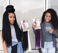 Wholesale Expressions Braiding Hair - Hot Sale 12 roots pack Havana Mambo Twist Crotchet Braids Expression 12-24inch 2X Crochet Braid Hair Senegalese Twist Free Shipping