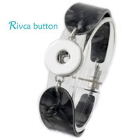 Wholesale European Magnetic Bracelet - Wholesale-P00695 Hot wholesale Snap Bracelet&Bangles Newest Fashion Snap Button Magnetic Charm Bangles 18mm DIY Rivca Snap Button Jewelry