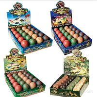 Wholesale Variety Toys Wholesale - NEW 4D large color dinosaur egg tree model variety of mixed batch of PVC material color box packaging assembled educational toys 20 PCS lot