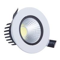 Wholesale Luz Techo - Wholesale- 9W LED Down light COB Dimmable LED Recessed ceiling downlights Lamp de luz de techo For Home Lighting Decorate