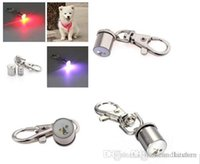 Wholesale Dog Collar Charm Accessories - Cute Keychain Style Safety Flashing LED Light Pet Dog Collar Signal lamp Pendant Charms Pets Accessories