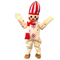 Wholesale Real Snowman - Snowman 001 Mascot Costumes Cartoon Character Adult Sz 100% Real Picture