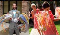 süslemeler şeritler çan toptan satış-DHL Noel süslemeleri 60 * 1.5 cm Şerit Sopa Peri değneklerini düğün Doğum Günü Partisi hediye Çan Ile Twirling Flamalar