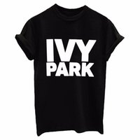 Wholesale m parks - IVY PARK Women T Shirt Cotton Casual Funny Loose White Black Gray Tops Tees Hipster Street 2017 New Fashion Clothing Blusa