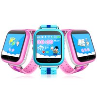 Wholesale Yellow Sleep Wear - Q100 Q750 Bluetooth child Smartwatch with WiFi GPS AGPS LBS BDS for iPhone IOS Android Smart Phone Wear Clock Wearable Device Smart Watch