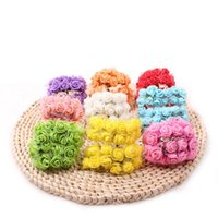Wholesale Color Kissing Balls - Wholesale- 144 Pcs lot Dia 2 cm Artificial Foam Roses For Home And Wedding Decoration Flower Heads Kissing Balls For Weddings Multi Color