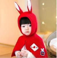 charakter koreanischen hut großhandel-Zeichentrickfilm-Figuren der neuen Winterkinder in der koreanischen Version Hut-Babyhasenohren-Baby mit Kapuze Kapkappe