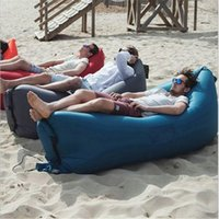 Wholesale New arrival Inflatable Air Sofa Lazy Bag Lounger Laybag Outdoor travelling Camping Portable Beach Bed Sleeping Bags DHL out241
