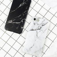 HKSD Luxury Granite Marble Stone image Casos de telefone pintados para iphone 7 cover Moda Black white Couple Cover For iphone 7 6 6S Plus