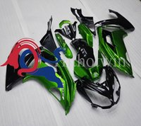 Wholesale Injection mold green black kit motorcycle cowl for Kawasaki ER6F ER6F ABS Plastic Fairing