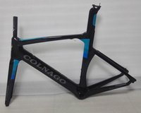 Wholesale Carbon Bicycle Frames Colnago - 2017 newest Black-blue Colnago Concept Road Bicyle Carbon Frame Carbon Bicycle Frame Size XXS,XS,S,M,L,XL BB386 with BB adaptor
