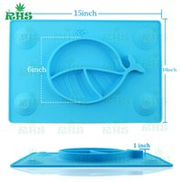 Wholesale Kid S Stickers - Children Baby Eating Plate set Sucker Sticker Kids Suction Pad Safety Silicone Anti-slip Bowel Mat 100%New Good Quality S-03