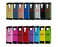 iphone6 plus hart hart großhandel-Für Galaxy S9 Plus z982 für iPhone6 2in1 Fall Gebürstetem Dual Layered Anti-Shock Hard Case Stoßfest Rückseitige Abdeckung Für LG V20 Z982 k10 k7
