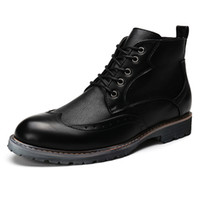 Wholesale Hand Painted Big Flowers - Big Size 36-48 Winter Men Boots Top Quality Handsome Comfortable Brand Comfortable Brand Casual Shoes Genuine Leather Boots 8955