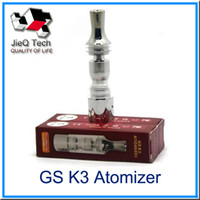 Wholesale Gs Dry Herb - GS K3 Atomizer Stainless Steel Tank With Rebuildable Bottom Coil Atomizer Wax Dry Herb Vaporizer For eGo series E cigarette