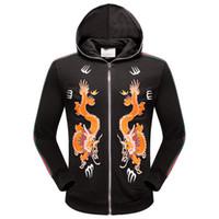 Wholesale Paisley Hoodie - 2017 new zipper men's hoodie, casual brand hoodie,High quality, printing Zip fleece M-XXXL