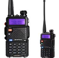 envío walkie al por mayor-Envío Gratis Original BAOFENG UV-5R Dual BandTransceiver UV5R Radio de Dos Vías Walkie Talkiea BF-UV5R Con Auriculares Gratis