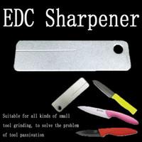 Wholesale Multi Sharpener - 2017 New Creative Multi-function Diamond Pocket Sharpener Mini Gardening Outdoor Portable Pruning EDC Tool 60*18mm B111Q