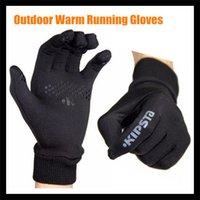 Wholesale Wholesale Thermal Gloves - Wholesale-Winter Outdoor Lightweight Running Gloves For Men&Women Jogging Soccer Football Cycling Fleece Thermal running Gloves Windproof