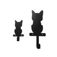 Wholesale Cute Cat Nail Design - Original Cat Design Wall Hook Cute Cartoon Animal Coat Hooks Single Wall Hanger Home Improvement Bathroom Accessories