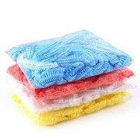 2017 new Wholesale-100 pcs Home Shower Bathing Elastic Cap Disposable Clear Spa Hair Salon New Free Shipping