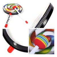 Wholesale Lp Music Instruments - drum music Carl Percussion Instrument 6 Inch Lollipop Tambourine Drums Music Teaching Aid Musical Lps Toys Pandeiro Xylophone