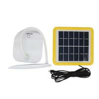 Wholesale Solar Indoor Reading Lights - USB Reading Light 6W 30 LEDs Solar Powered LED Desk Lamp Adjustable Touch Sensor Dimmer Rechargeable Lampen Tabel Lamp