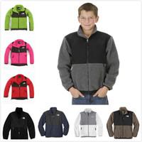 Wholesale Mens Winter Down Coats Sale - Hot Sale Winter Kids Denali Fleece Jacket Fashion Casual Windproof Warm Boys Girl Sports Coats Womens Mens Down SoftShell Brand Coats S-XXL