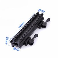 Wholesale Tactical Riser Mount Quick Detachable Double Rail Angle Weaver Picatinny Mount w Integral QD Lever Lock System Slots