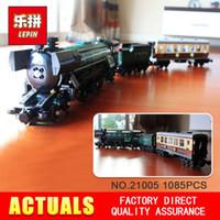 Wholesale Train Series Brick - NEW LEPIN 21005 1085Pcs Technic Series Emerald Night Train Model Building Kits Block Bricks Children Gigt Toys 10194