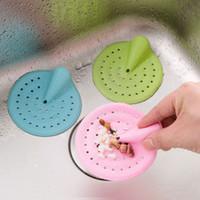 ingrosso cucine da bagno-1 pz colore della caramella capelli Catcher Bath Stopper Colino doccia Copertura Cucina Bagno Bacino Lavello Filtro Filtro Filtro di scarico