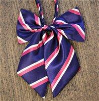 Wholesale Wholesale Plaid School Uniforms - 2017 Hot Brand fashion designer 25 Color business dress stewardess uniforms bow tie school students children collar flowers