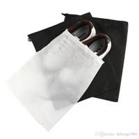 paketleme ayakkabı çantaları kıvırma ipi toptan satış-Saklama Çantası Olmayan Dokuma Kullanımlık Ayakkabı Kapak İpli Vaka Nefes Toz Geçirmez Sundries Paketi Ev Aracı 0 24ld D R