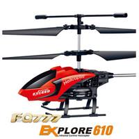 motor kontrol helikopteri toptan satış-RC Drone Quadcopter FQ777-610 3.5CH 2.4 GHz Modu 2 RTF Gyro Uzaktan Kumanda Helikopterleri Ücretsiz kargo