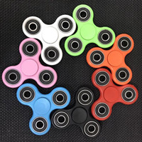 Wholesale Black Spinners - 2017 Hot Toy EDC Hand Spinner Fidget Toy Good Choice For decompression anxiety Finger Toys For Killing Time 8 colors Free DHL