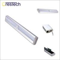 batería pir led al por mayor-Lámpara de noche LED con luz nocturna de gabinete portátil inalámbrico Luz de armario LED Sensor de movimiento PIR Lámpara LED