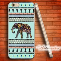 Wholesale Aztec Silicone Iphone Covers - Fundas Elephant Aztec Soft Clear TPU Case for iPhone 6 6S 7 Plus 5S SE 5 5C 4S 4 Case Silicone Cover.
