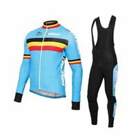 kış bisikleti toptan satış-Erkek Bisiklet Giyim Belçika Kış Termal Polar Süper Sıcak Ropa Ciclismo Invierno Bisiklet Jersey Dağ Bisiklet Giyim