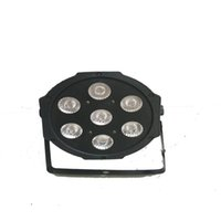 Wholesale Lights Dj Equipment - FREE shipping 7x12w led Par lights RGBW 4in1 flat par led dmx512 disco lights professional stage dj equipment