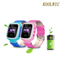 """Wholesale Gps Mobile Tracking - Wholesale- KOOLWIC Mobile Watch Phone GPS Track Children Safe Smart Wristbands GSM Phone Support Android IOS 1.0"""" TFT Color Screen"""