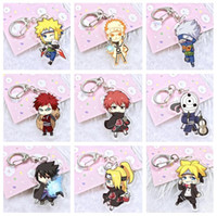 Wholesale double heart keychain - Good A++ Anime Acrylic Double Pendant Keychain KR188 Keychains mix order 20 pieces a lot