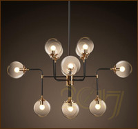 coffee pipe Australia - North Europe style design Modo Magic Bean Pendant Lamps 12 Globes Glass lampshade MODO DNA Pendant Lights for coffee clothing