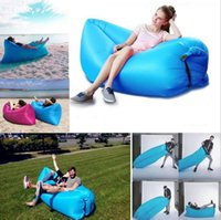 Wholesale Fast Outdoor Inflatable Air Sleeping Bag Hangout Lounger Air Boat Air Lazy Sofa Camping Sleeping Bed Fast Inflatable sofa Colors Inflatab
