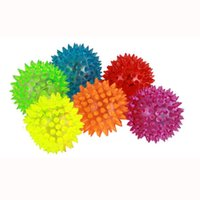 Flashing Light Up Bolas Spikey Juguete Bouncing Balls Diversión Novedad Sensory Hedgehog Ball Aleatorio Color