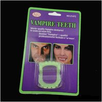 Wholesale Toy Teeth Lights - Scary Halloween Supplies Party Prank Toys Horrible Night Lights False Tooth Artificial Luminous Teeth Halloween Party Supplies