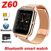 Wholesale Gps Sms Trackers - Z60 Smart Watch For Android IOS Mobile phone Bluetooth SmartWatch SIM TF Card SMS Music Sport waterproof Tracker Camera A1 Smart Watches Dhl