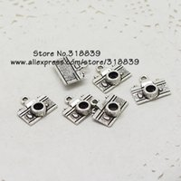 Wholesale Metal Charms Pendants Silver Camera - Wholesale-Vintage Silver Metal Zinc Alloy Mini Camera Charms Fit Diy Jewelry Making Pendant Charms 50pcs lot 7206