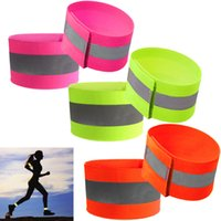 Wholesale Reflective Straps - 10pcs Ultralight Safety Reflective Warning Band Belt Arm Leg Straps for Outdoor Sports Accessories Night Cycling Protector Angel